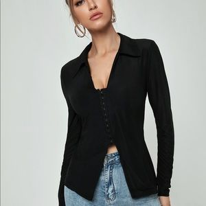 Hook & Eye Front Solid Top